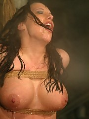 Sasha's body was created to be hosed down and tied up