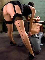 Bobbi Starr dominates her office boss and fucks his ass