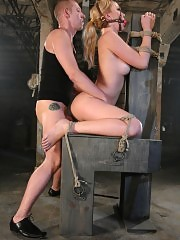 Annette Schwarz is made for bondage, punishment and sex.
