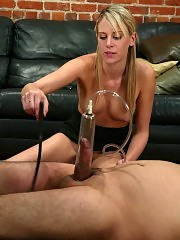 Audrey's submissive visitor gets the punishment of his life