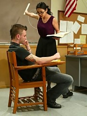 Miss Tan keeps Richie in detention to educate him